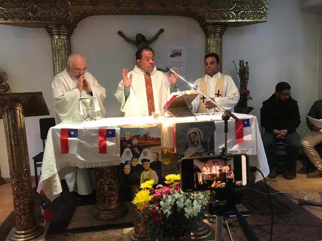 La familia verbita se unió en acción de gracias por sus 120 años en Chile
