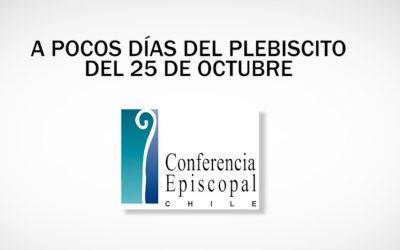Mensaje de los obispos a pocos días del plebiscito