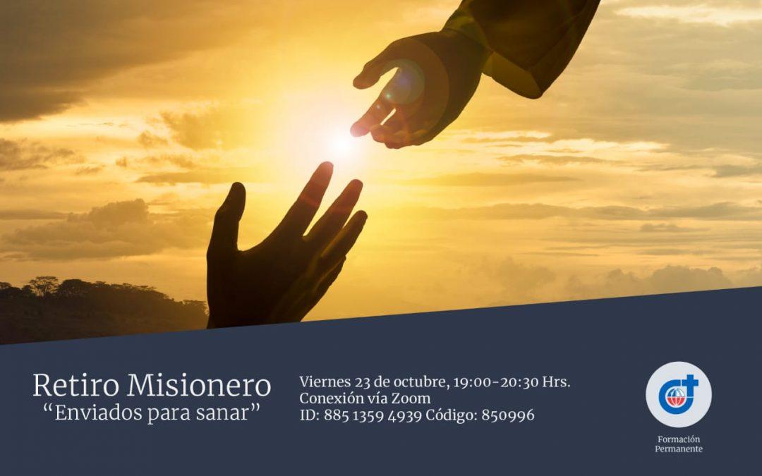 """Invitación al Retiro misionero """"Enviados para sanar"""""""