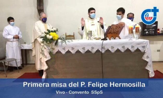 El P. Felipe Hermosilla celebró su primera misa con las hermanas Siervas del Espíritu Santo