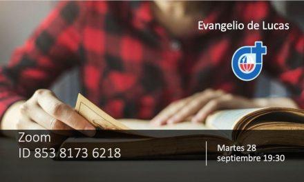 """Próximo encuentro de la Pastoral Bíblica: """"El Evangelio de Lucas"""""""