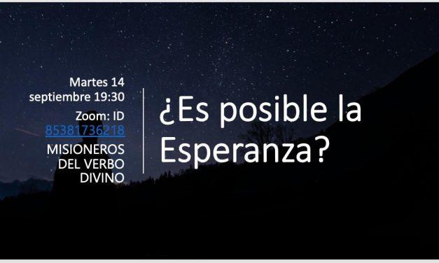 """La Pastoral Bíblica invita al encuentro """"¿Es posible la esperanza?"""""""